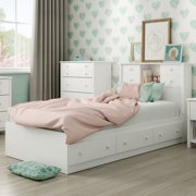 "South Shore Little Smileys Twin Mates Bed (39"") with 3 Drawers, Multiple Finishes"