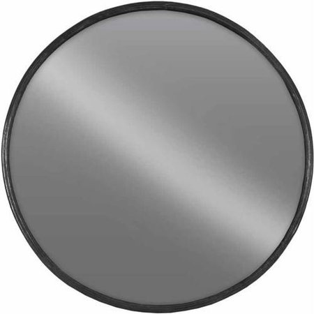 - Urban Trends Collection: Metal Wall Mirror, Tarnished Finish, Black