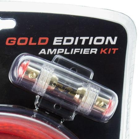 Bullz Audio 4 Gauge 2000W Car Audio Amplifier Installation Power Wiring Kit, Red