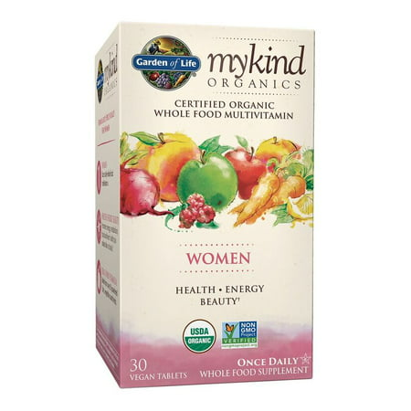 Garden of Life Mykind Organics Women One A Day Multivitamin Tablets, 30 Ct
