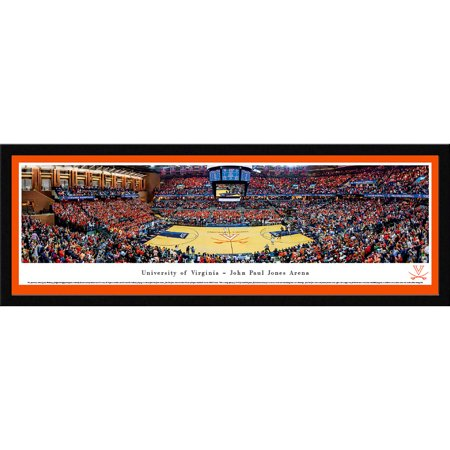 Virginia Cavaliers Basketball at John Paul Jones Arena - Blakeway Panoramas NCAA College Print with Select Frame and Single Mat
