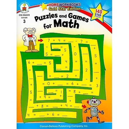 Puzzles and Games for Math, Grade 3 : Gold Star Edition