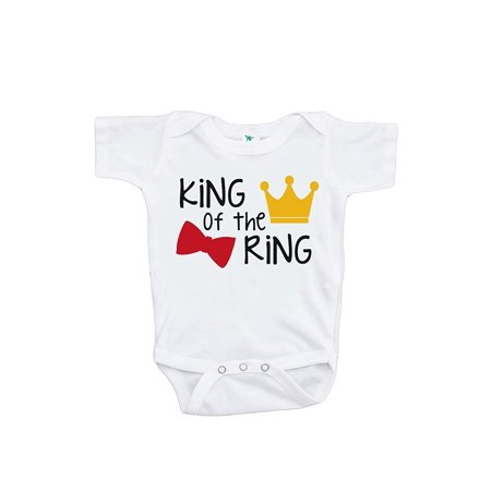 Custom Party Shop Baby Boy's King of the Ring Wedding Onepiece - 12-18 Month Onepiece - Custom Favors
