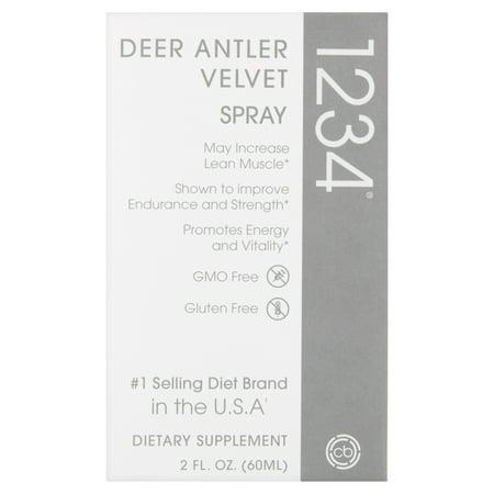 Deer Antler Velvet Spray 1234 Dietary Supplement, 2 fl oz