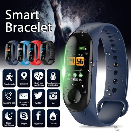 Fitness Tracker Watch, Smart Bracelet Activity Tracker with Pedometer Calorie Sleep Monitor Call/SMS Reminder Sedentary Reminder Blood Pressure Heart Rate for iPhone & Android
