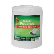 Duck Brand 7.5 in. x 7.5 in. Clear Bubble Pouches on a Roll, 20-pack