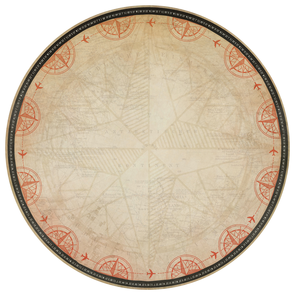 Now Boarding Die-Cut Cardstock 12 Inch X 12 Inch-Compass