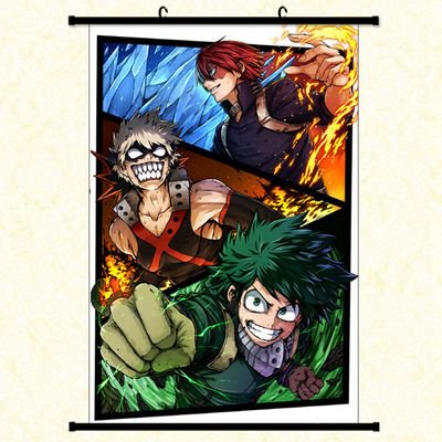 Fancyleo Japanese Anime My Hero Academy Poster Wall Painting Room Decoration ()