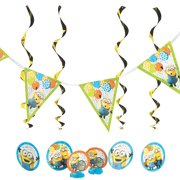Despicable Me 3 Table Decor Kit for Birthday - Party Supplies - Licensed Tableware - Misc Licensed Tableware - Birthday - 7 Pieces