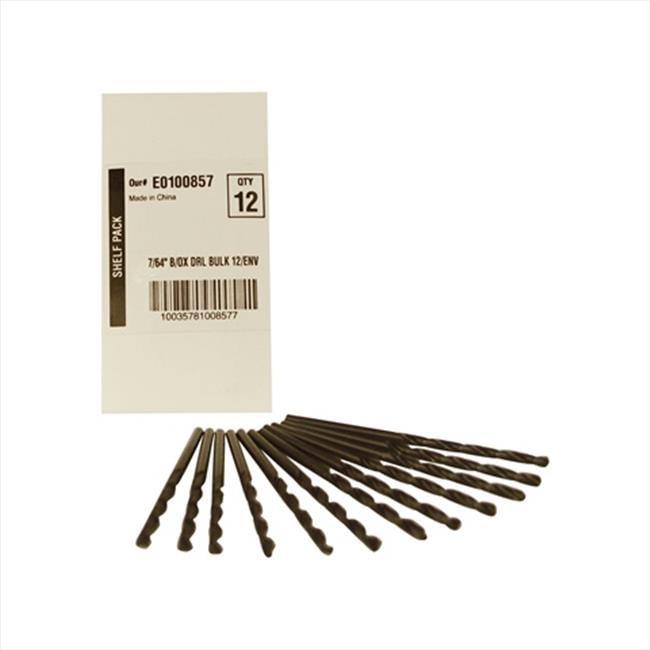 Disston E0100857 Blu-Mol 0.11 In. Diameter Black Oxide Jobber Length Drill Bit, 12 Pack