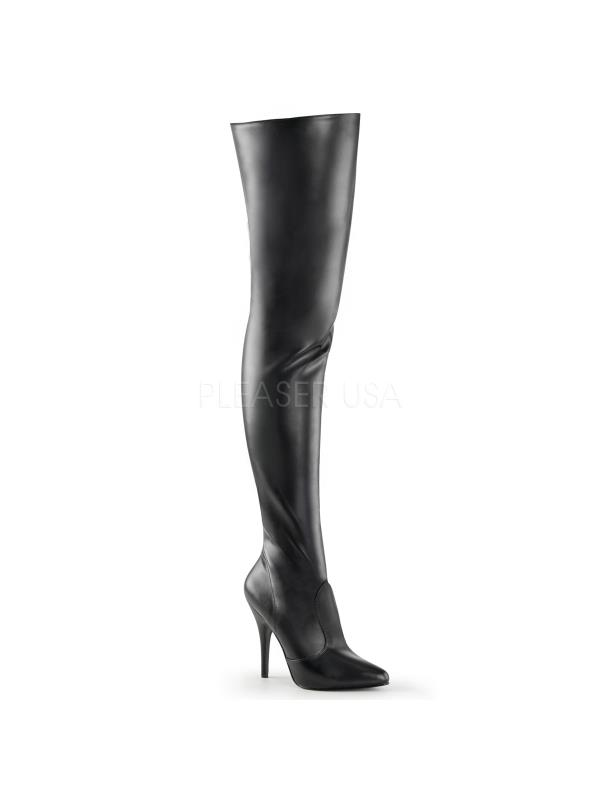 SED3010/B/PU Pleaser Single BLACK Soles Thigh High Boots BLACK Single Size: 14 6f7175