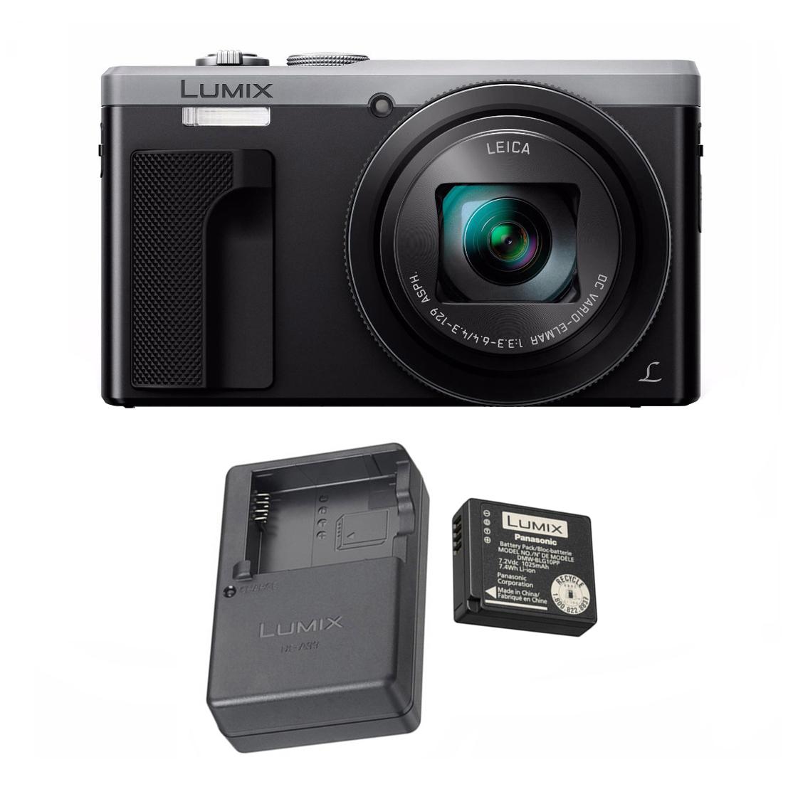 Panasonic LUMIX ZS60, 4K Leica Lens (Silver) w/ Panasonic Battery & Charger
