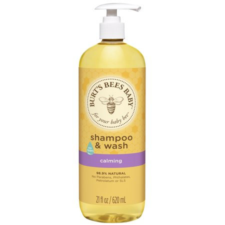 Burt's Bees Baby Shampoo & Wash, Calming Tear Free Baby Soap - 21 Ounce Bottle ()