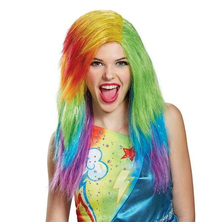 My Little Pony: Rainbow Dash Adult Wig - Rainbow Wigs For Sale