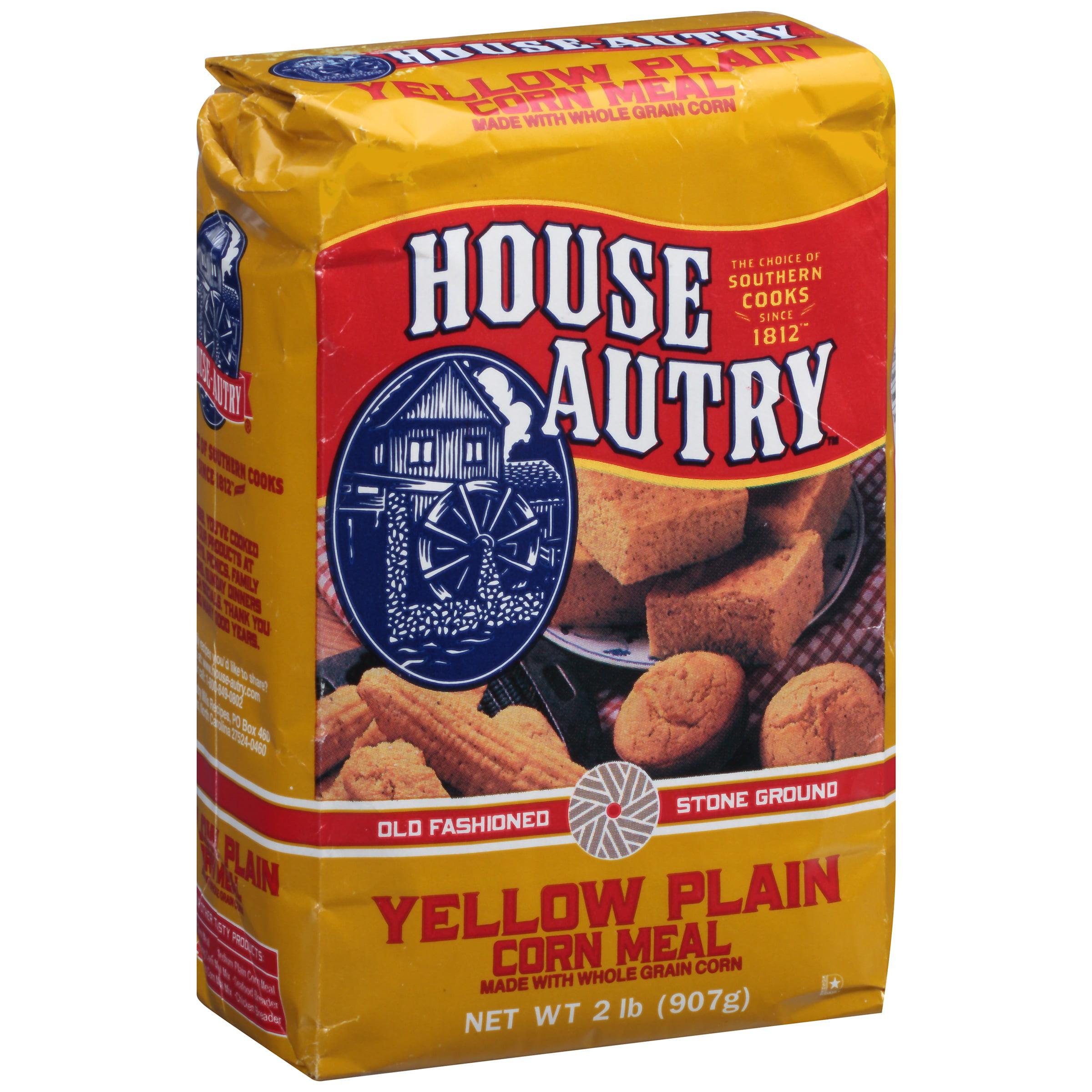 House-Autry Yellow Plain Corn Meal 2 lb. Bag