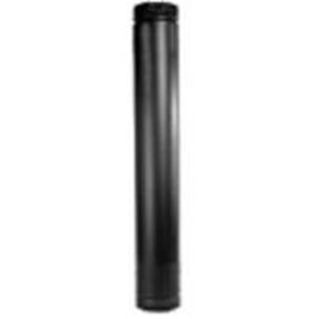 Metalbest DSP7TL Double Wall Telescopic Length Stove Pipe, 7 in, 7-1/2 in OD, 7 - 38 in L, 1200 deg