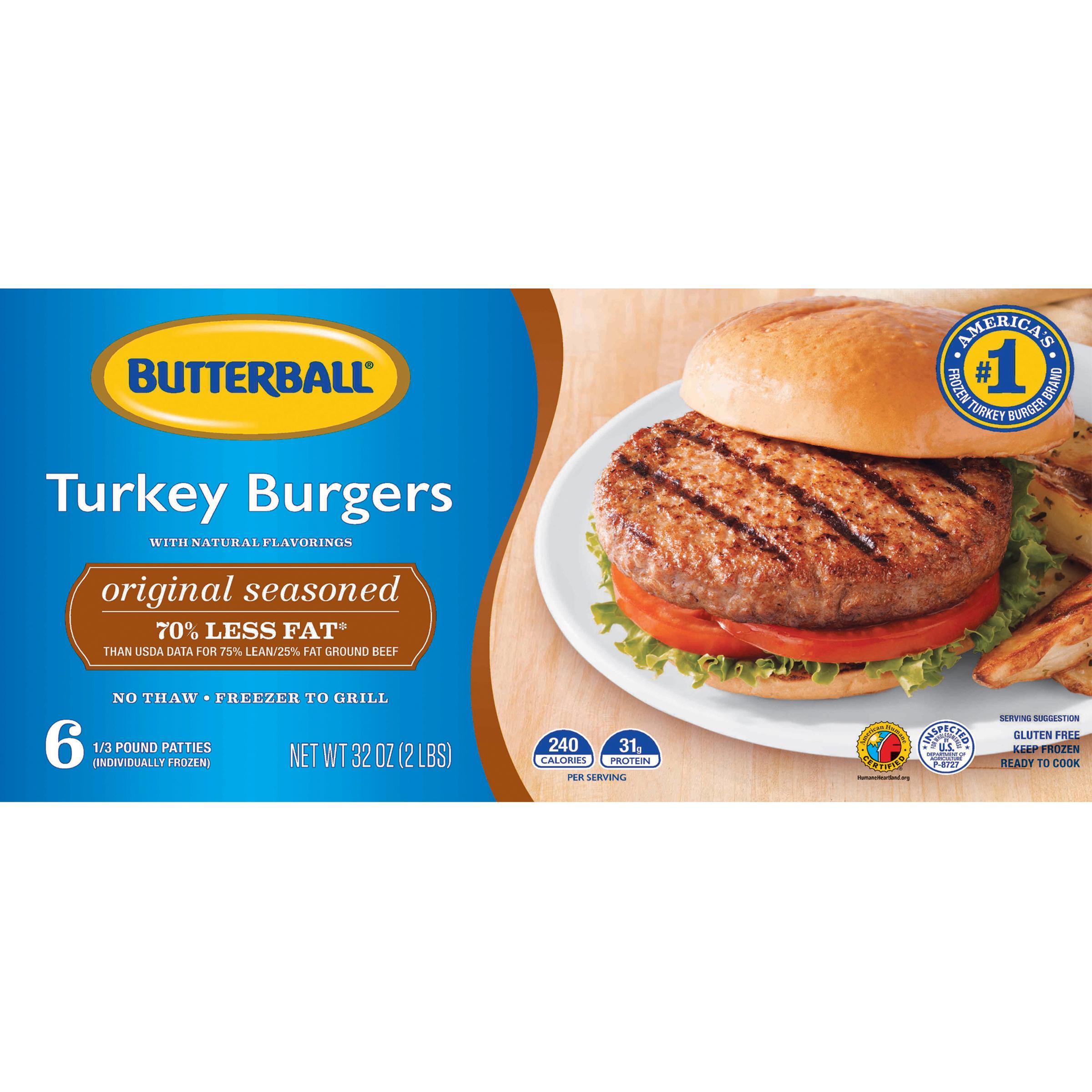 Butterball® Original Seasoned Turkey Burgers 32 oz.