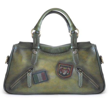 - Pratesi Womens Italian Leather Abetone Large Handbag Tote in Cow Leather