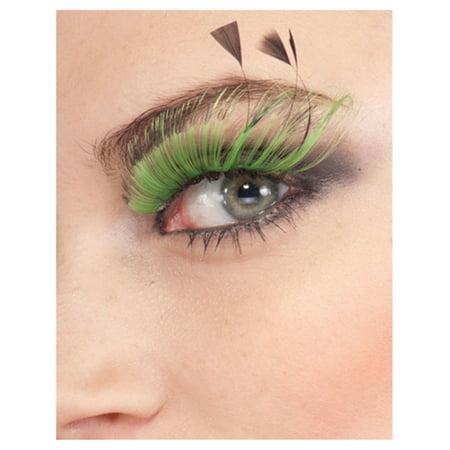 Women's  Long Green Full Fairy False Costume Eyelashes