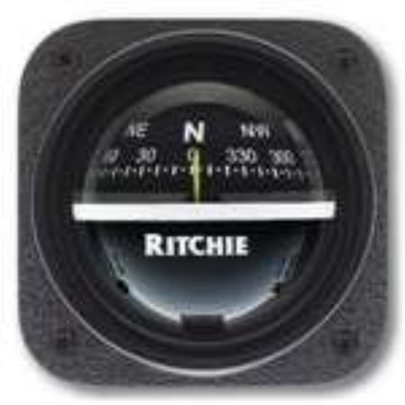 ritchie v-537 explorer compass - bulkhead mount - black dial by e.s. ritchie Bulkhead Mount Compass