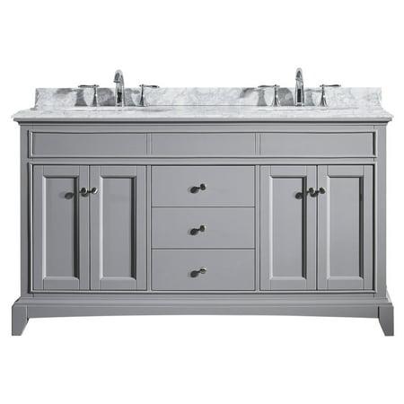 (Eviva Elite Stamford 60 in. Double Sink Bathroom Vanity Set)