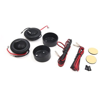 2 Pcs Black Audio System Loud Dome Tweeter Speaker 150W 91dB for Car Auto - image 2 of 2