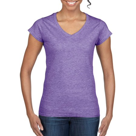 Gildan Softstyle Women's Short Sleeve Fitted V-Neck T-Shirt Foundation Fitted T-shirt