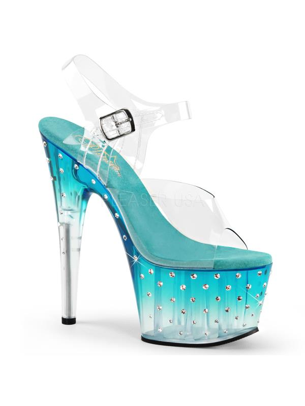 STDUS708T/C/TL-C Pleaser Platforms Specialty Collection Size: 5 Clr/Teal-Clr