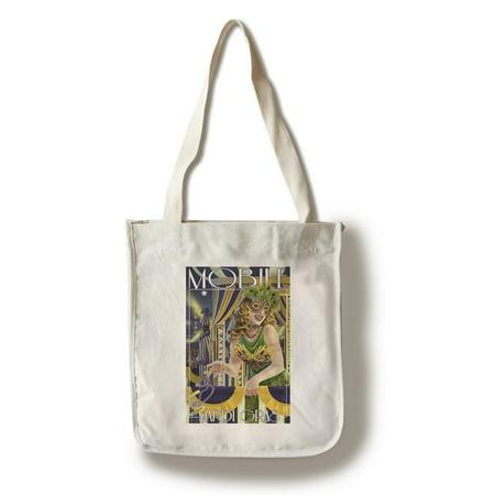 Mobile, Alabama - Mardi Gras - Lantern Press Artwork (100% Cotton Tote Bag - Reusable) (Mobile Office Tote)