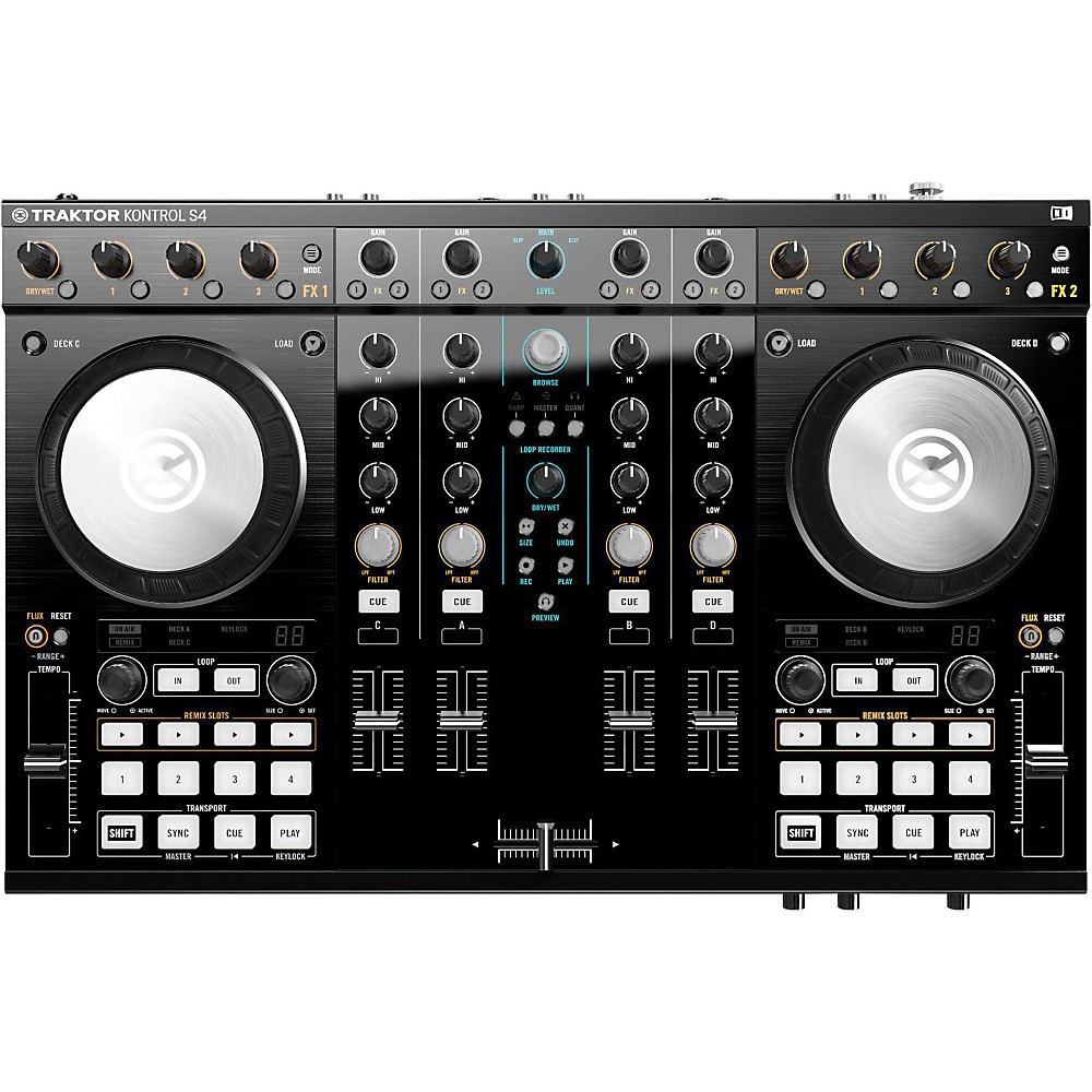 Native Instruments Traktor Kontrol S4 MK2 with Lightning Cable by Native Instruments