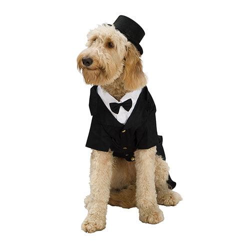 Dapper Dog Formal Tuxedo Pet Costume size Small 12-14