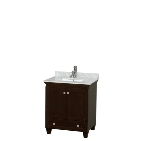 Wyndham Collection Acclaim 30 inch Single Bathroom Vanity in White Whi