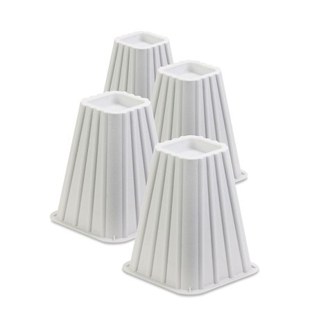 Honey Can Do Stackable Bed Risers, Set of 4, Ivory