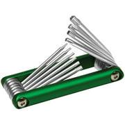 Performance Tool W9134 10Pc Alum. Folding Star Hex Key Set