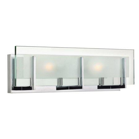 Hinkley Lighting 5652CM Latitude 2 Light 18 inch Chrome Bath Light Wall Light ()