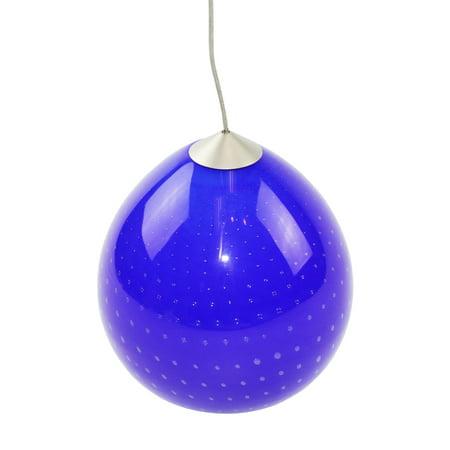 Alfa Lighting Juno Led Pendant G81 Blue Glass Luna Halogen Line Low Voltage, Satin (Blue Nickels)