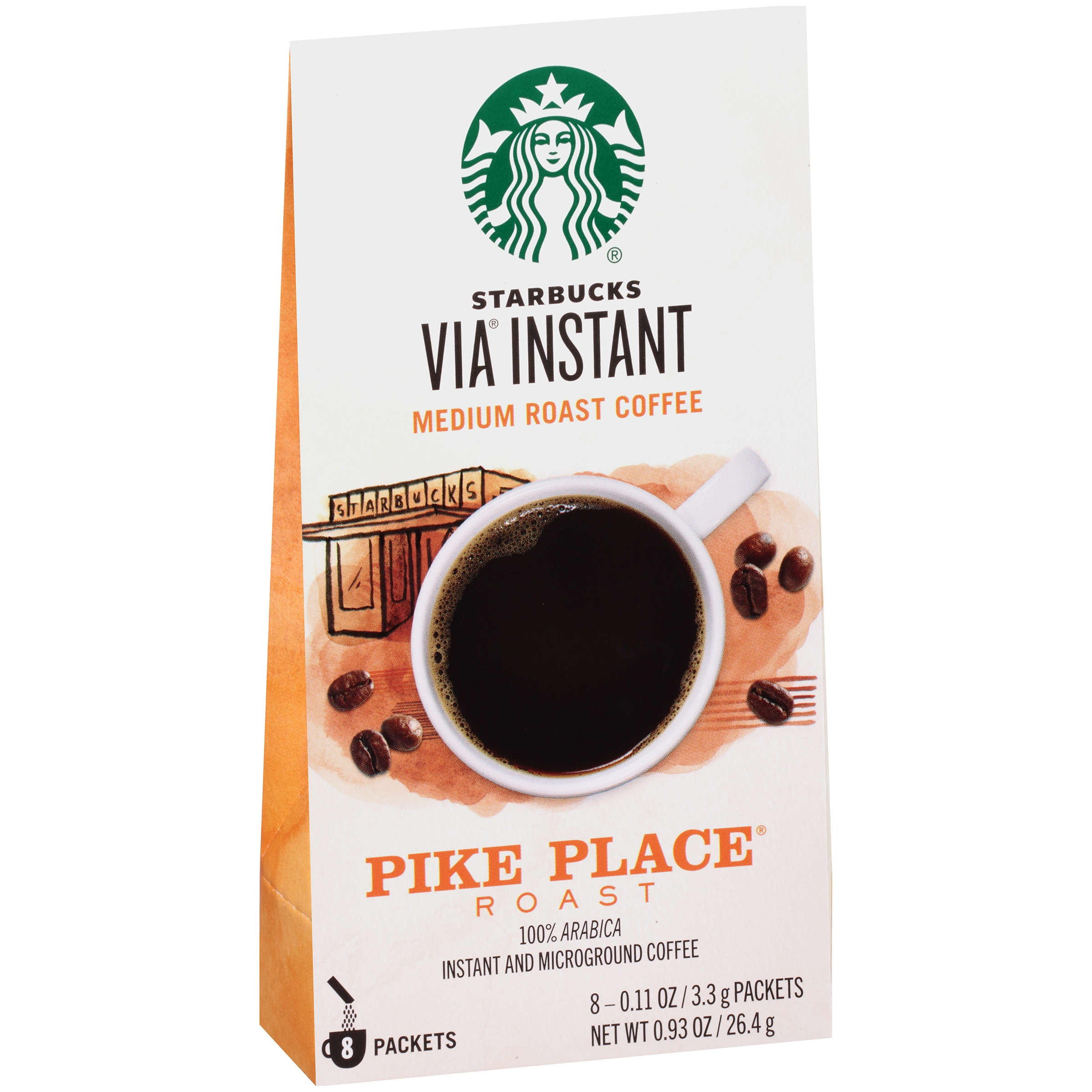 Starbucks® VIA® Instant Pike Place® Roast Instant Coffee 8 ct Box