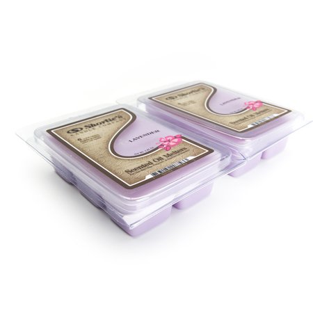 Pure English Lavender Wax Melts 2 Pack - Highly Scented - Made With Essential & Natural Oils - Floral Warmer Wax Cubes Collection