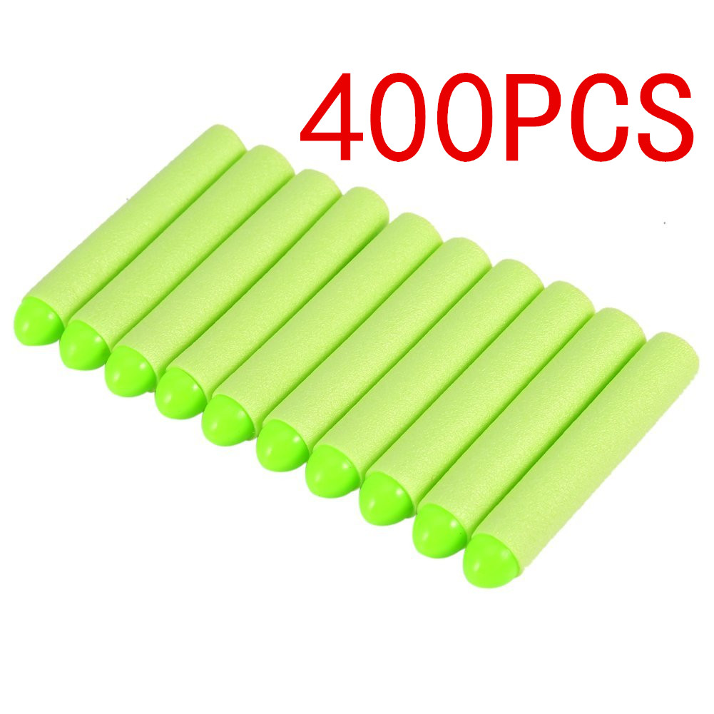 Estink Soft Eva Toy Bullets Refill Darts 400PCS Bullet for Narf N-Strike Elite Zombie Strike Rebelle - Green