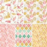 David Textiles Cotton Fabric Flamingo Paradise Collection 44 Inches