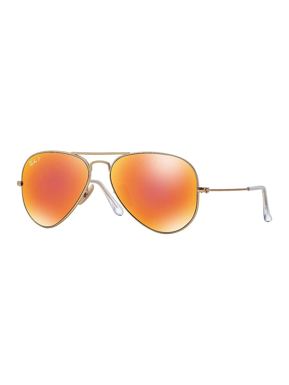 58MM Large Polar Flash Aviator Sunglasses