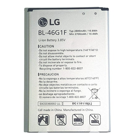 Lg Li Ion Battery >> Lg Oem Original Cell Phone Battery Bl 46g1f Li Ion Battery 2700mah 10 8wh 3 85v Eac63418207 Yby For For Lg 2017 K20 Plus K20 K20 V Harmony Lv532gb