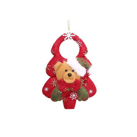 Holiday Time Santa Claus/Snowman/Deer/Bear 3D Christmas Hanging Ornaments Christmas Tree