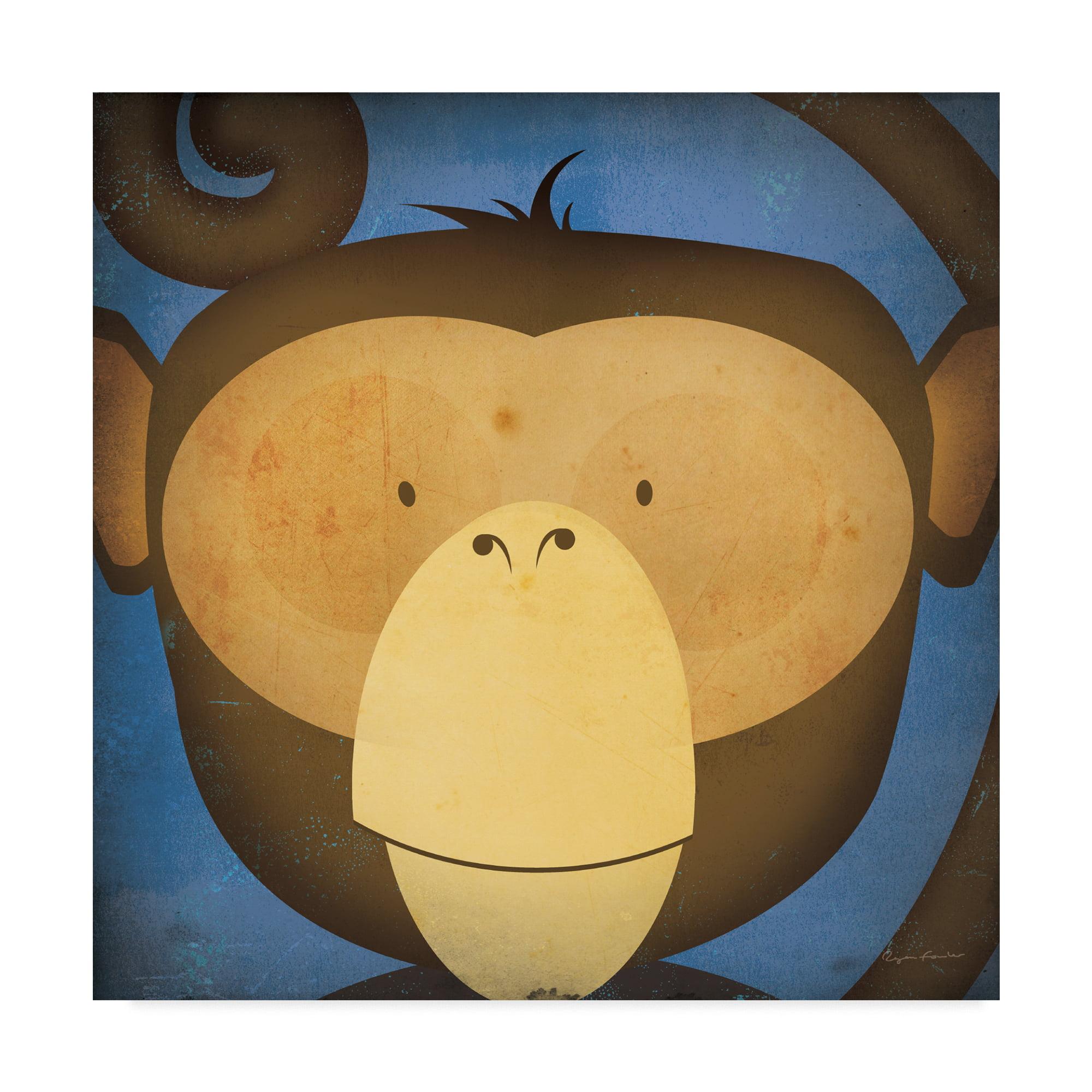 Trademark Fine Art \'Monkey Wow\' Canvas Art by Ryan Fowler - Walmart.com