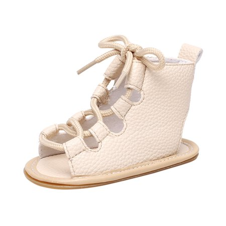2019 Baby Casual Sandals Bandage Cross-tied Sole Crib Hollow 2019 (Best Mtb Shoes 2019)