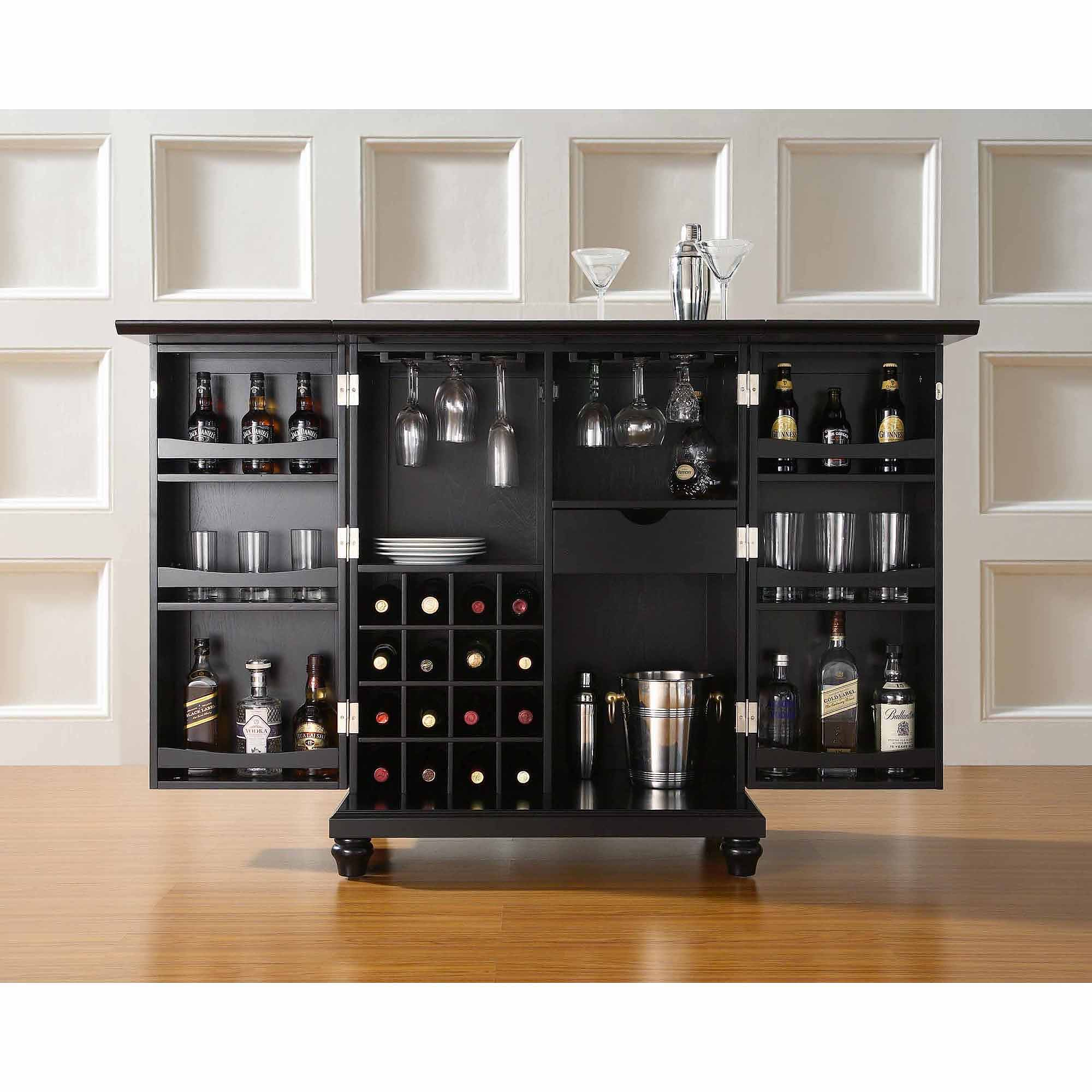 Crosley Furniture Cambridge Expandable Bar Cabinet - Walmart.com