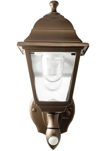 Battery-Powered Motion-Activated Wall Sconce in Bronze by Maxsa Innovations