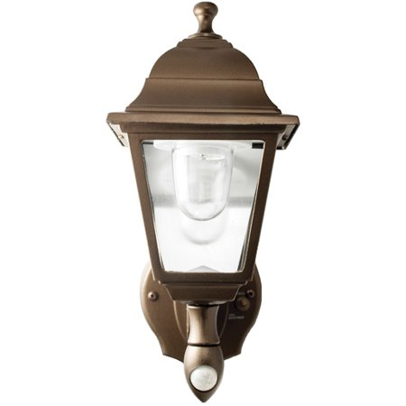 Battery-Powered Motion-Activated Wall Sconce in Bronze