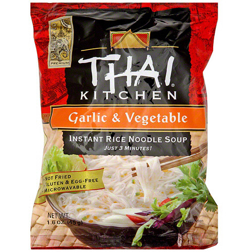 Thai Kitchen Garlic & Vegetable Instant Rice Noodle Soup, 1.6 oz (Pack of 12)
