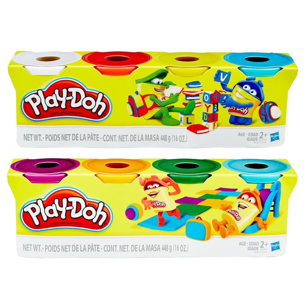 PD: Classic Color Assorted 4 oz (8) Play-Doh Modeling Compound, Ounce Cans, Primary Colors, Set of Hasbro B5517
